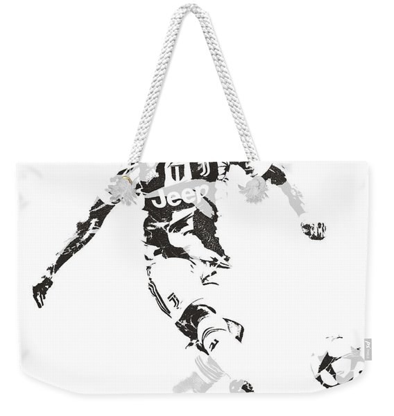 Cristiano Ronaldo Juventus Pixel Art 4 Weekender Tote Bag