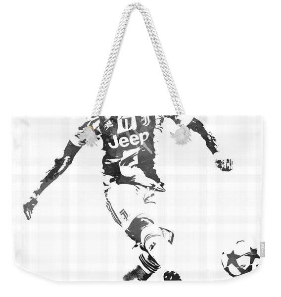 Cristiano Ronaldo Juventus Water Color Pixel Art 1 Weekender Tote Bag