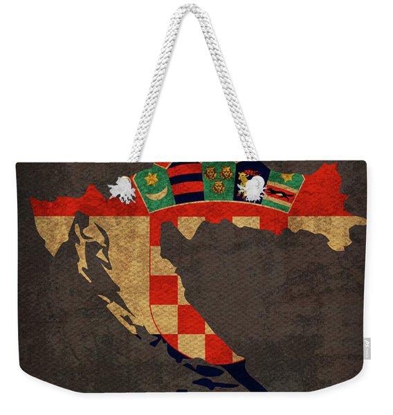 Croatia Country Flag Map Weekender Tote Bag