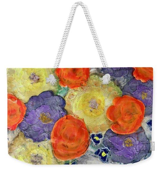 Crochet Bouquet Weekender Tote Bag