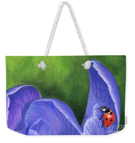 Crocus And Ladybug Detail Weekender Tote Bag