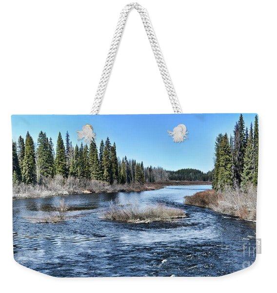 Crooked River Weekender Tote Bag
