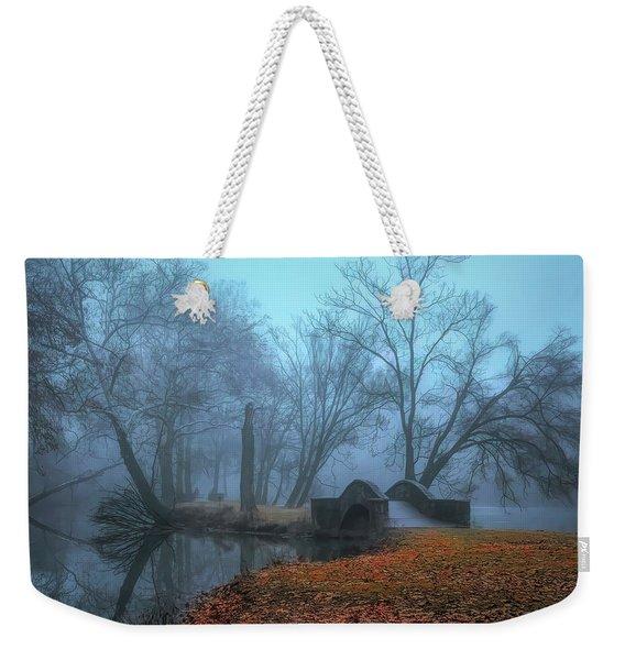 Crossing Into Winter Weekender Tote Bag