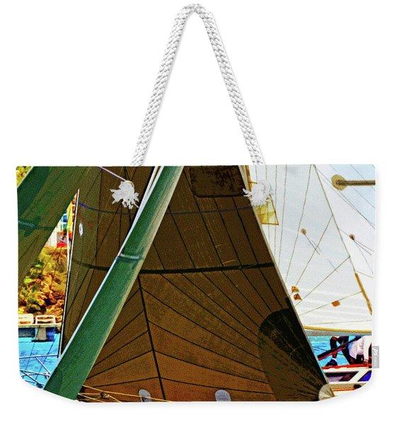 Crossing Sails Weekender Tote Bag