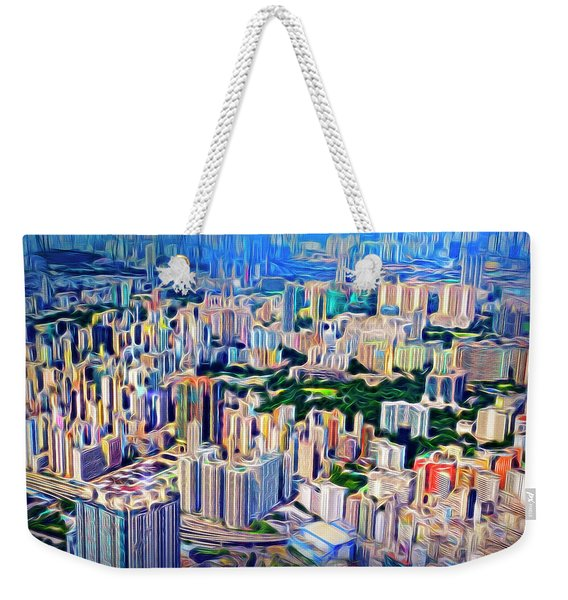 Crowded Hong Kong Abstract Weekender Tote Bag