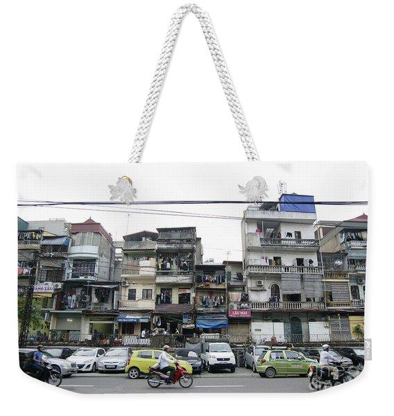 Crowded Streets Of Hanoi Weekender Tote Bag