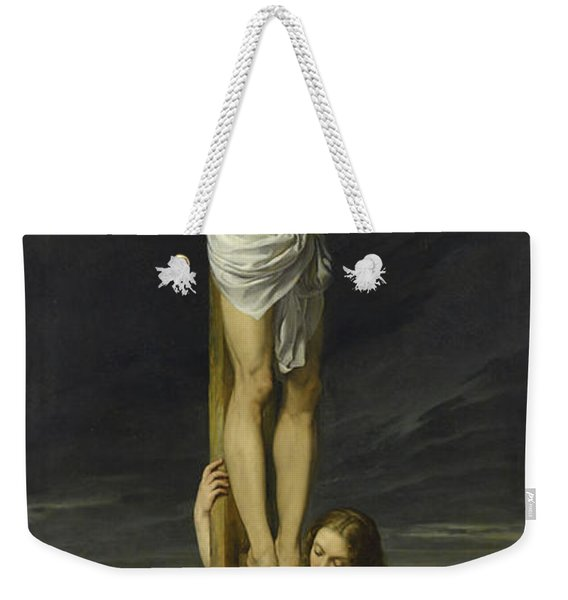 Crucifixion With Mary Magdalene Kneeling And Weeping Weekender Tote Bag