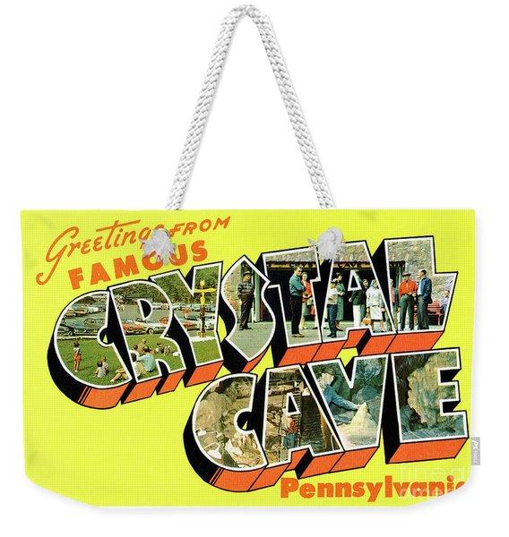 Crystal Cave Greetings Weekender Tote Bag
