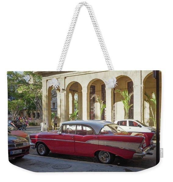 Cuban Chevy Bel Air Weekender Tote Bag