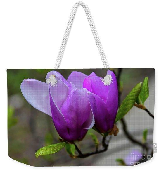 Cuddling In Spring Weekender Tote Bag
