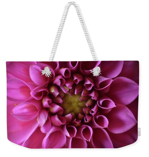 Weekender Tote Bag featuring the photograph Curled Up by Michelle Wermuth