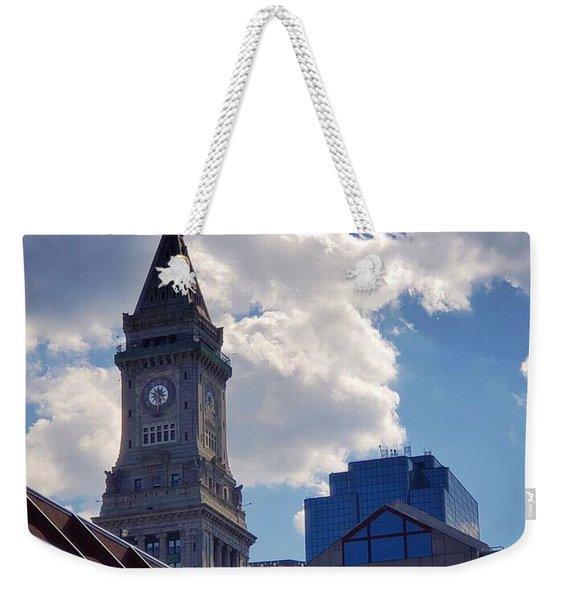 Custom House Clock Tower Weekender Tote Bag