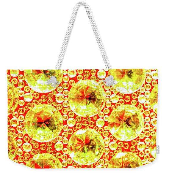 Cut Glass Beads 3 Weekender Tote Bag