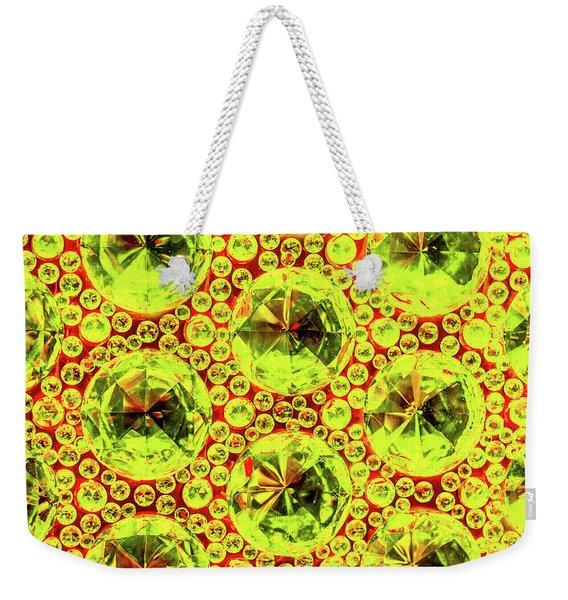 Cut Glass Beads 5 Weekender Tote Bag