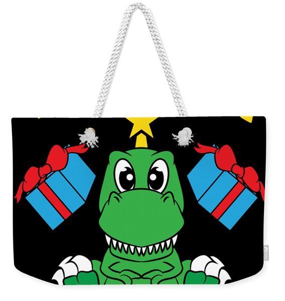 Cute And Adorable Tree Rex Perfect For This Seasons Of Giving Makes A Nice Gift To Your Family Weekender Tote Bag