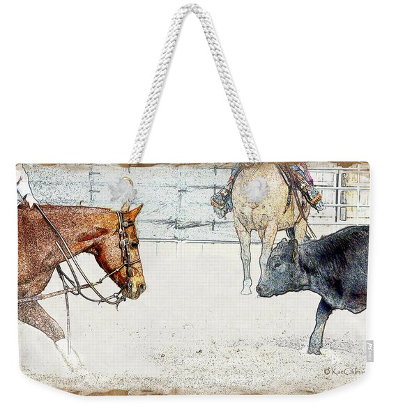 Cutting Horse At Work Weekender Tote Bag