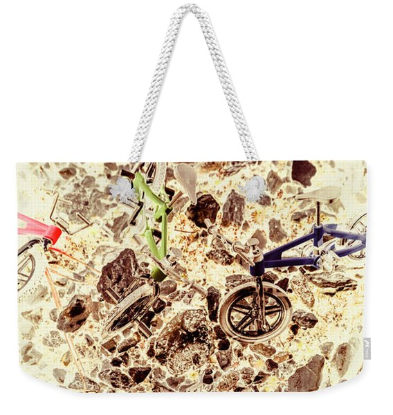 Cycling Abstracts Weekender Tote Bag