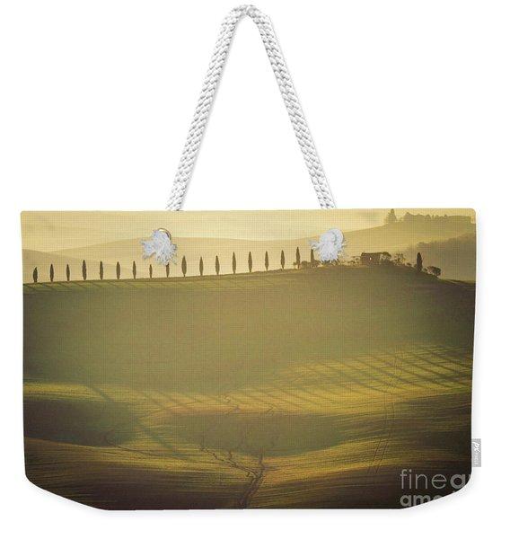 Cypress Line In Tuscan Scenery Weekender Tote Bag
