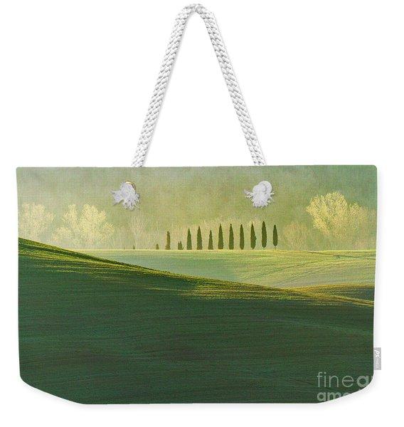 Cypress Tree Lines Weekender Tote Bag