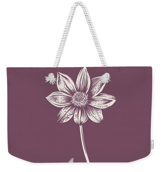 Dahlia Purple Flower Weekender Tote Bag