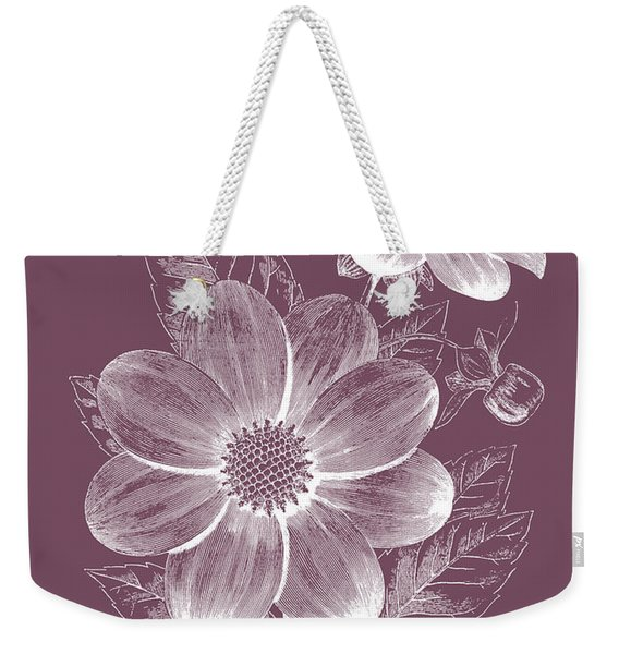 Dahlias Purple Flower Weekender Tote Bag