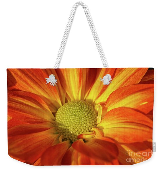Daisy Mum In Orange And Yellow Weekender Tote Bag