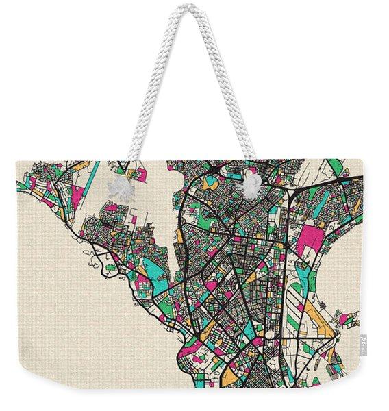 Dakar, Senegal City Map Weekender Tote Bag