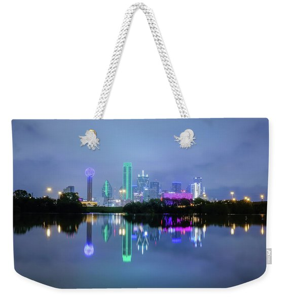 Dallas Cityscape Reflection Weekender Tote Bag