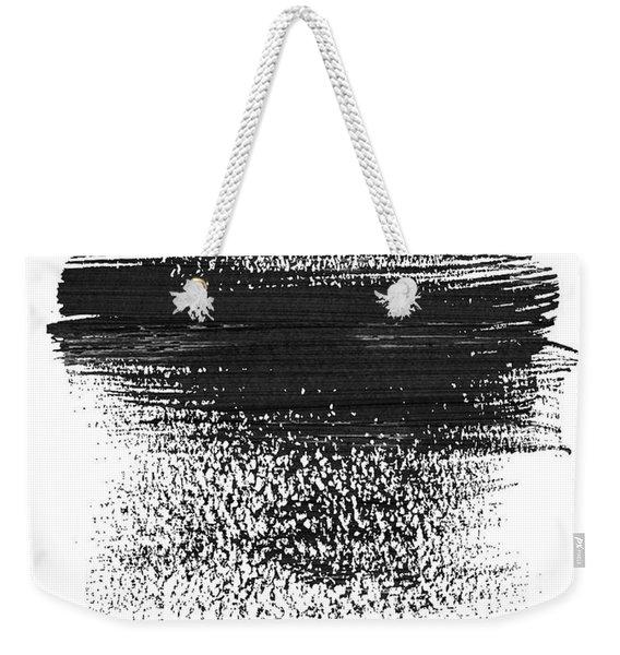 Dallas Skyline Brush Stroke Black Weekender Tote Bag