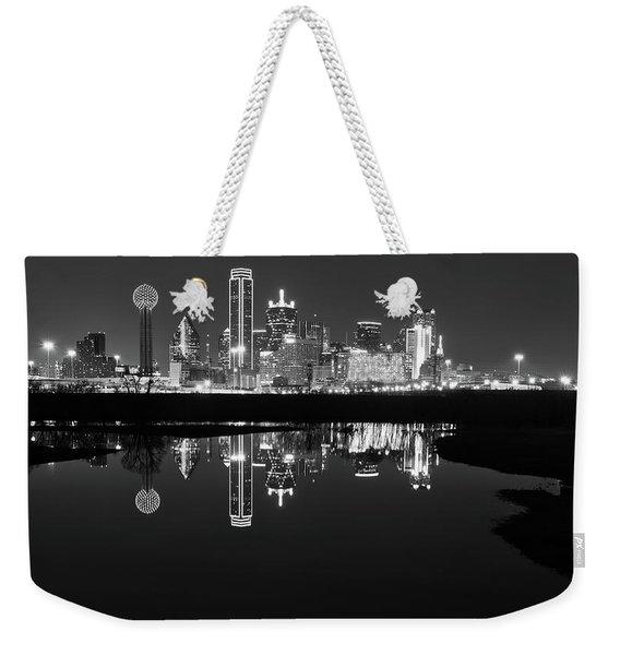 Dallas Texas Cityscape Reflection Weekender Tote Bag