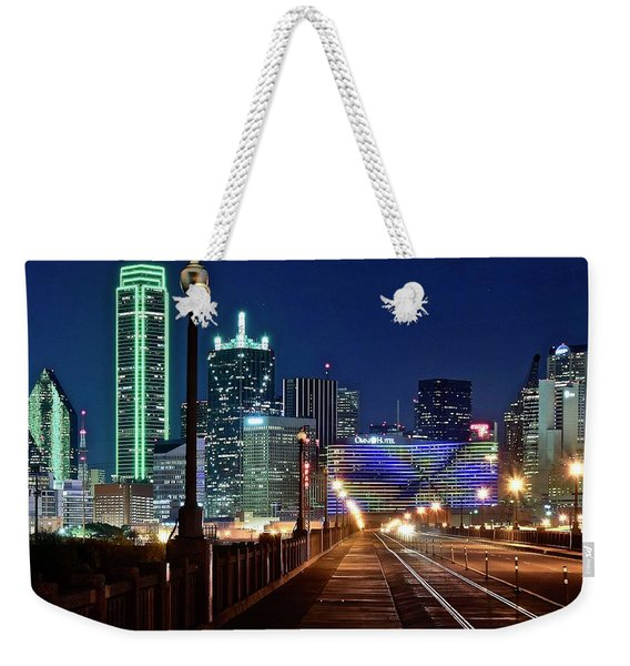 Dallas Texas Cowboy Blue Night Weekender Tote Bag