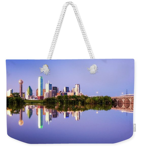 Dallas Texas Houston Street Bridge Weekender Tote Bag