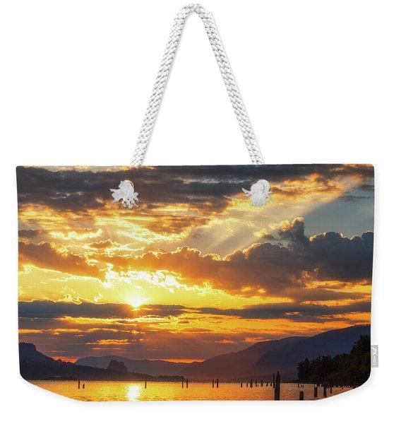 Dalton Point Sunrise Weekender Tote Bag