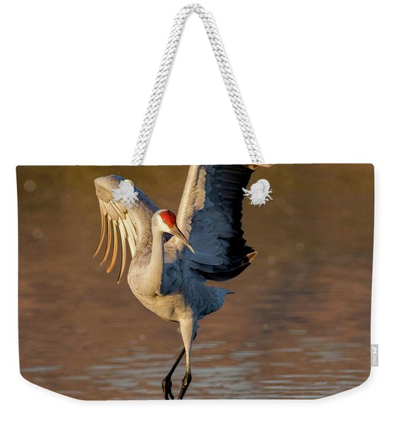 Dance Of The Sandhill Crane Weekender Tote Bag