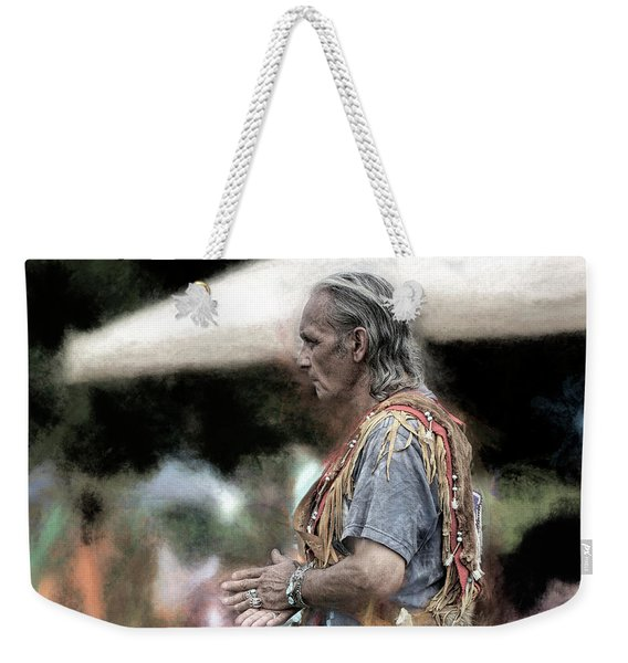 Weekender Tote Bag featuring the photograph Dance Of The Woodland Elder by Wayne King