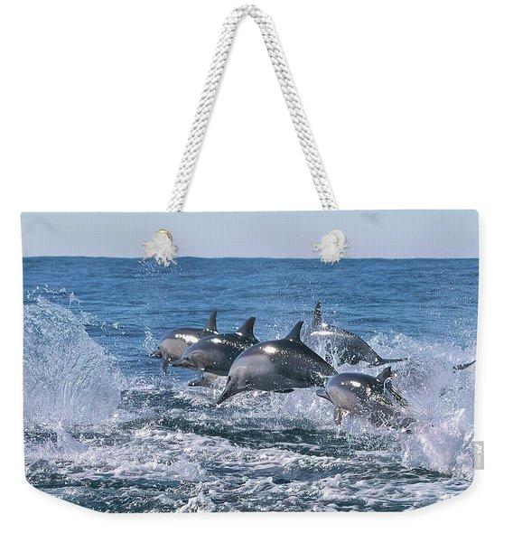 Dancing Dolphins Weekender Tote Bag