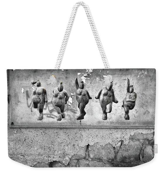 Dancing Venus - Naked Crones Black And White Weekender Tote Bag