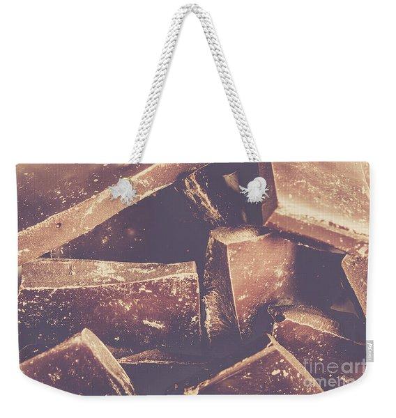 Dark Chocolate Delight Weekender Tote Bag