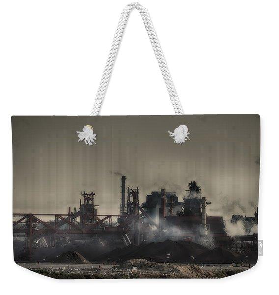 Dark Rain Weekender Tote Bag