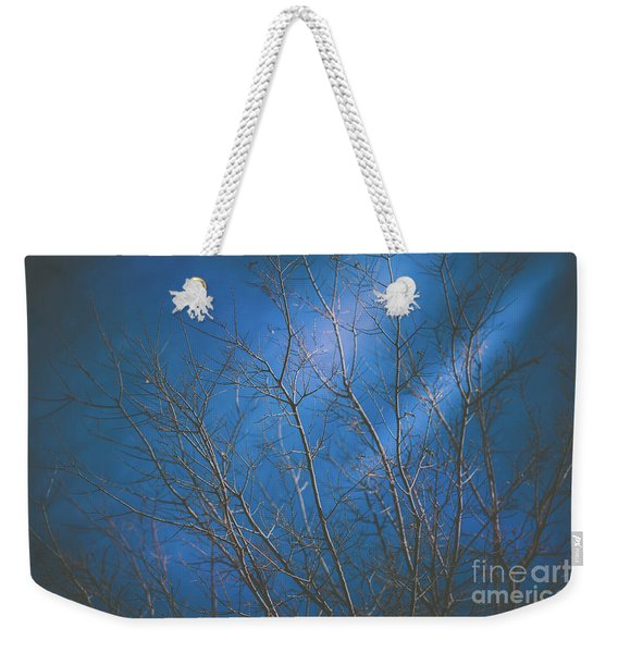 Weekender Tote Bag featuring the photograph Dark Winter by Dheeraj Mutha