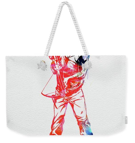 Daryl Dixon Watercolor Weekender Tote Bag