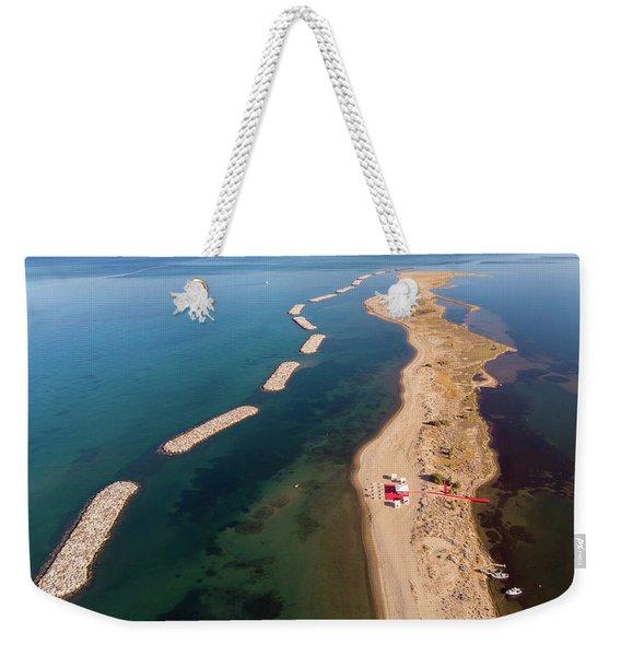 Dashed Line Weekender Tote Bag