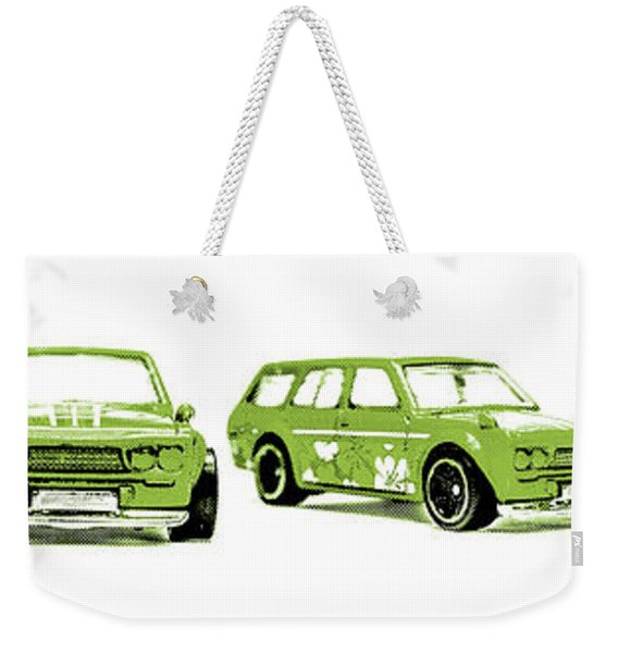 Datsun 510 Comic Strip Weekender Tote Bag