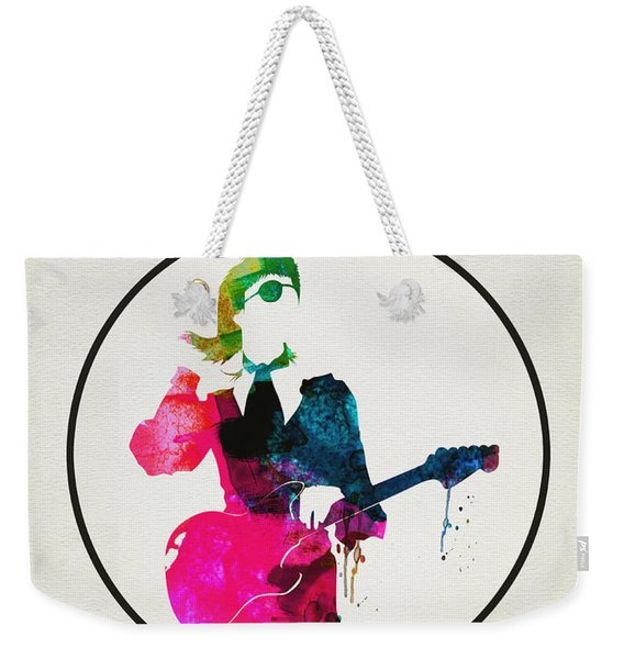 David Bowie Watercolor Weekender Tote Bag