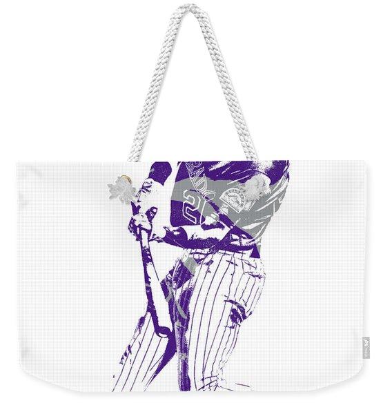 David Dahl Colorado Rockies Pixel Art  1 Weekender Tote Bag
