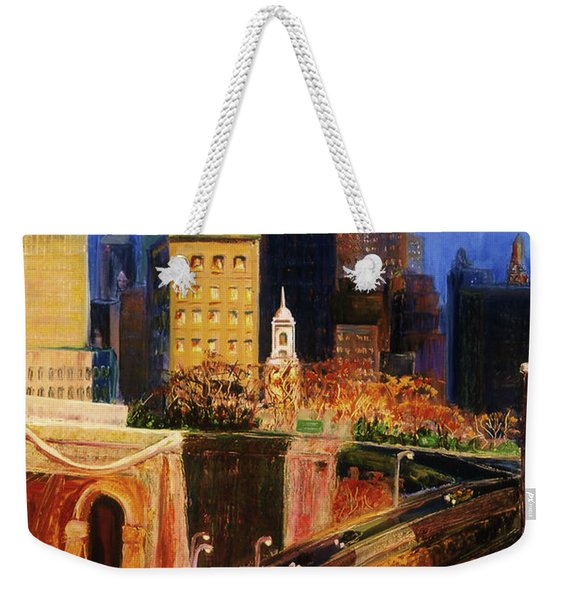 Dawn At City Hall Weekender Tote Bag
