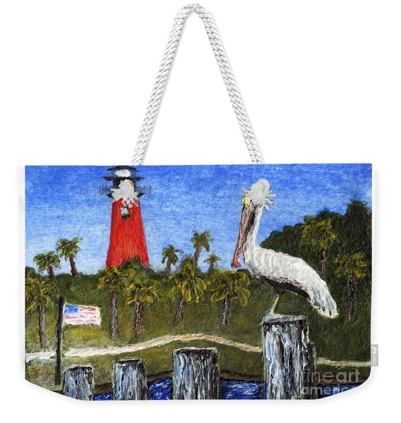Aceo Dawn At Jupiter Inlet Lighthouse Florida 52a Weekender Tote Bag