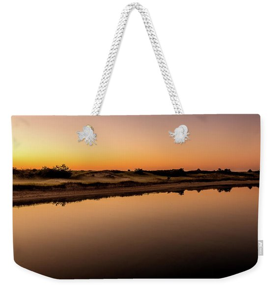 Weekender Tote Bag featuring the photograph Dawn Light, Ogunquit River by Jeff Sinon
