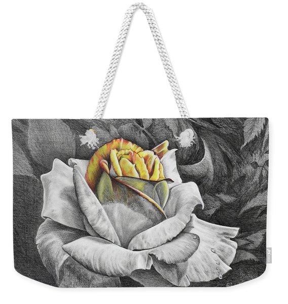Weekender Tote Bag featuring the drawing Dawn by Nancy Cupp