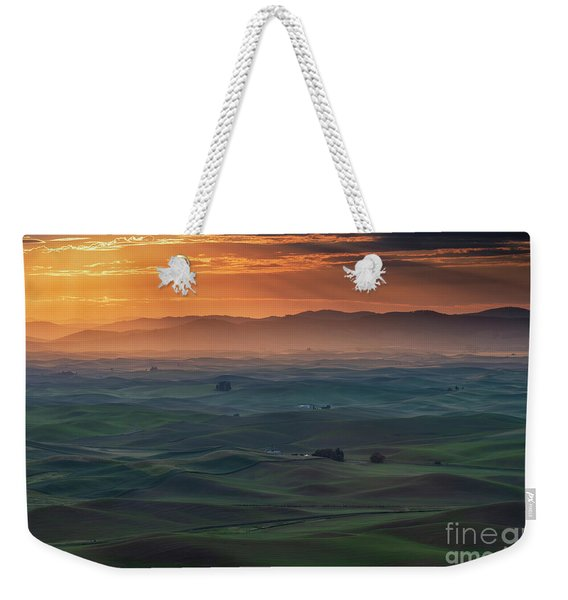Dawn Rays Over The Palouse Weekender Tote Bag